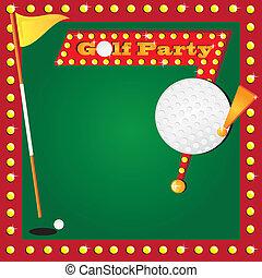 golf miniatura, invito, retro