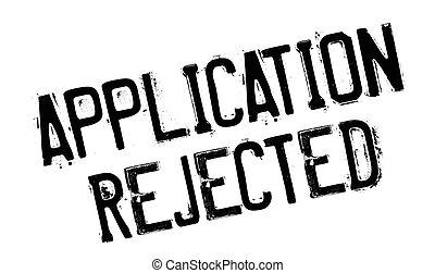 gomma, domanda, rifiutato, francobollo