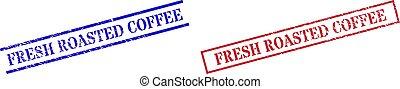 gomma, fresco, rettangolo, arrostito, caffè, cornice, textured, francobolli, sigillo