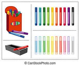 gomma, gesso, scatola, 20, colors.