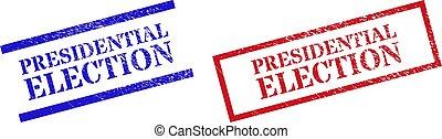 gomma, presidenziale, rettangolo, grunge, cornice, elezione, francobolli, sigillo
