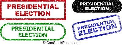 gomma, superficie, presidenziale, rettangolo, elezione, francobollo, sigilli