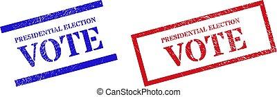gomma, textured, presidenziale, rettangolo, cornice, voto, elezione, francobollo, sigilli