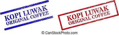 gomma, textured, rettangolo, originale, cornice, caffè, luwak, francobollo, sigilli, kopi