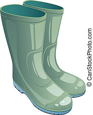 gomma, verde, stivali