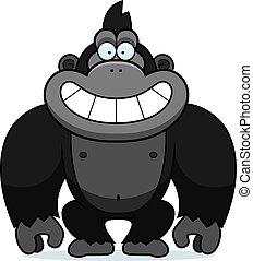gorilla, cartone animato, sogghignare