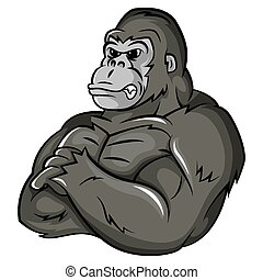gorilla, forte, mascotte