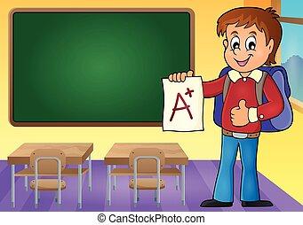 grado, ragazzo, scuola, più