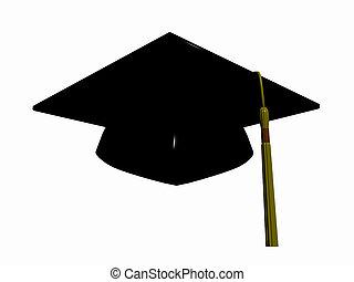 graduazione, hat.
