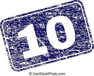 graffiato, 10, arrotondato, francobollo, incorniciato, rettangolo