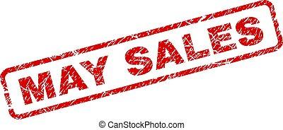 graffiato, arrotondato, maggio, vendite, francobollo, rettangolo