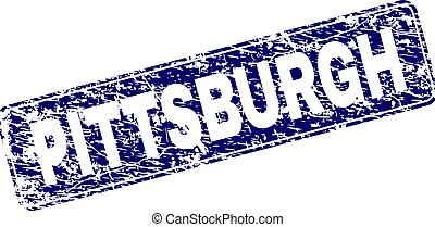 graffiato, arrotondato, pittsburgh, incorniciato, francobollo, rettangolo