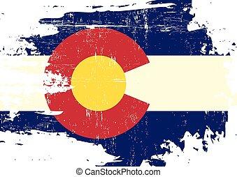 graffiato, bandiera, colorado