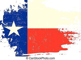 graffiato, bandiera, texas