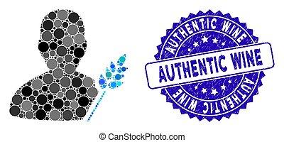 graffiato, contadino, agricoltura, icona, autentico, vino, mosaico, sigillo