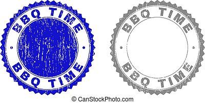 graffiato, francobolli, textured, bbq, tempo