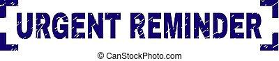 graffiato, francobollo, angoli, dentro, sigillo, urgente, textured, promemoria