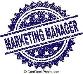 graffiato, francobollo, marketing, sigillo, direttore, textured
