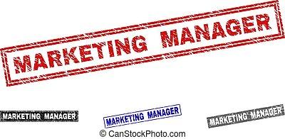 graffiato, grunge, francobollo, marketing, sigilli, direttore, rettangolo