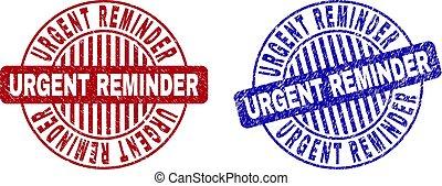 graffiato, grunge, francobollo, sigilli, urgente, promemoria, rotondo