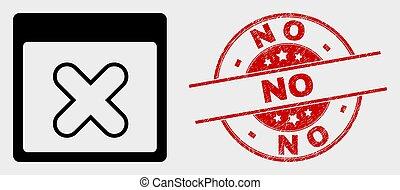 graffiato, no, francobollo, domanda, finestra, vettore, sigillo, chiudere, icona