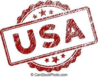 graffiato, stati uniti, francobollo, testo, sigillo, textured