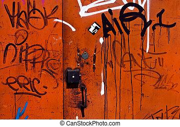 graffito, fondo