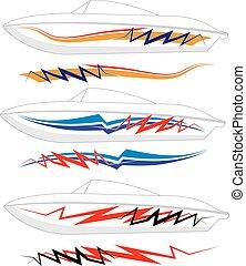 grafica, striscia, pronto, :, barca, vinile