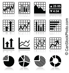 grafici, rifornire, analisi mercato