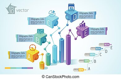 grafici, tabelle, affari, infographics