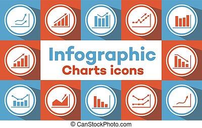 grafici, tabelle, icone