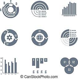 grafici, vettore, tabelle, schemi