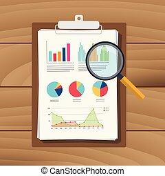 grafico, analisi, verifica, risultato, finanza, finanziario, ingrandendo, dati, carta, relazione, documento, vetro