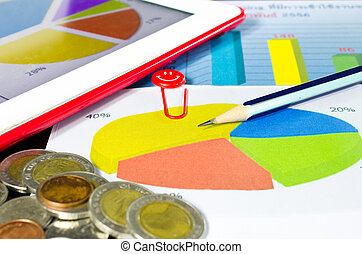 grafico, cerchio, affari