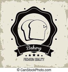 grafico, cibo, panetteria, vettore, icon., bread