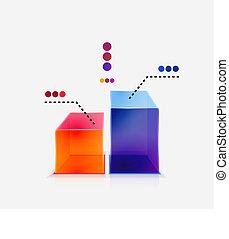 grafico, concetto astratto, lucido, colorito