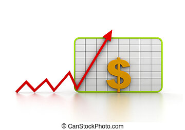 grafico, crescita, finanziario