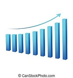 grafico, dati, affari, statistico