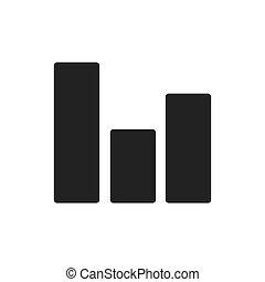 grafico, dati, analisi, icona