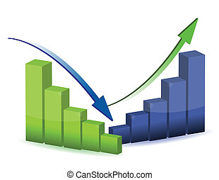 grafico, diagramma, grafico, affari