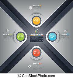 grafico, disposizione, affari, moderno, forma, disegno, infographics, x