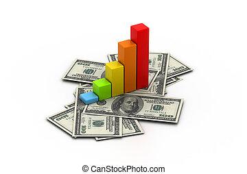 grafico, finanziario, affari
