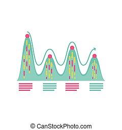 grafico, finanziario, dettagliato, relazione, pianificazione, affari, dati, analisi