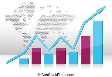 grafico, illustrazione affari