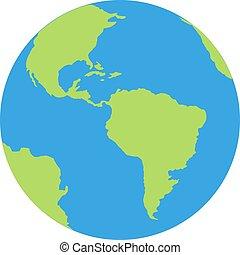 grafico, illustrazione, pianeta, vettore, isolato, globo terra, disegno