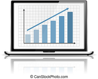 grafico, laptop