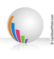 grafico, palla bianca