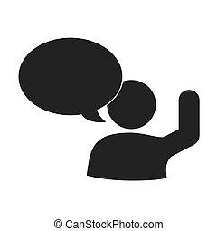 grafico, persona, comunicazione, parlare, vettore, sociale, icona