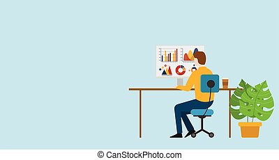 grafico, relazione, monitor, uomo affari, analizzare, dati, finanza, investimento