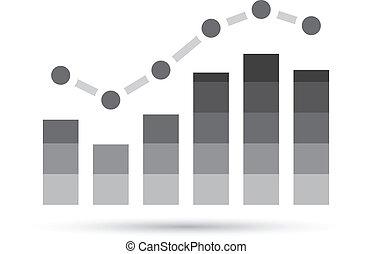 grafico, stats, grigio